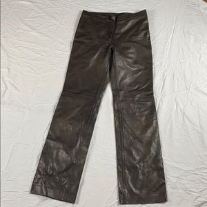 Burberry Prorsum Brown leather pants -size 42